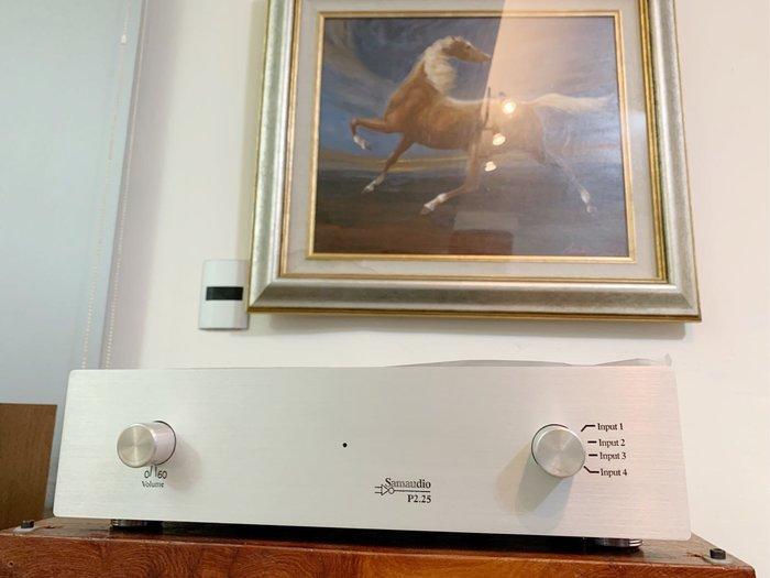 [山姆音響] SamAudio P2.25旗艦-- 6061頂級鋁箱+級進並聯音量+純DC放大FET晶體前級擴大機