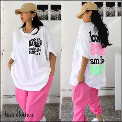 元氣潮感字母寬鬆T恤。韓國空運。SHE。正韓 * KOREA 韓衣角!han clothes