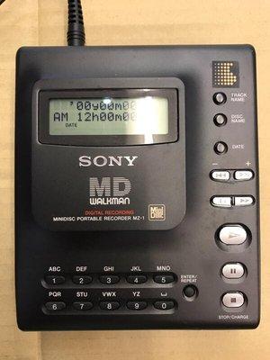 SONY MZ-1 MD 隨身聽 通電有螢幕 無法讀片 適 收藏 零件機 現況交貨