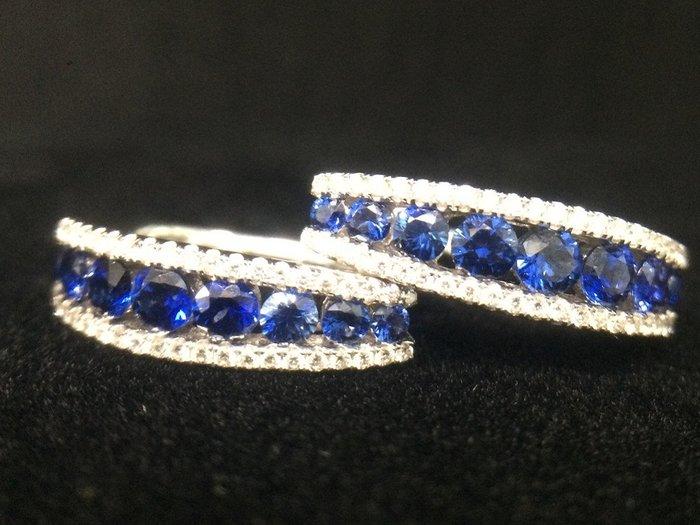 天然 藍寶石 耳環