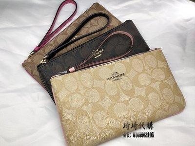 限量特惠 coach 58695皮夾 零錢包 手拿包 拉鍊錢夾 女士錢包 包包 女夾 現貨