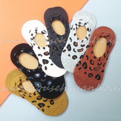 韓國襪 豹紋 隱形襪 防滑膠條 船形襪 襪子 棉襪