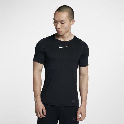 鞋印良品】NIKE PRO 緊身衣 運動短袖 838094010 黑 透氣材質 路跑 單車 健身訓練 尺寸:M~2XL