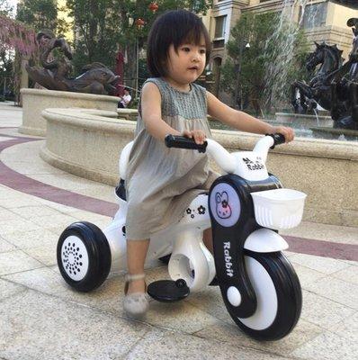 兒童電動摩托車寶寶電動三輪車充電1-5歲出口音樂童車 防側翻  NMS