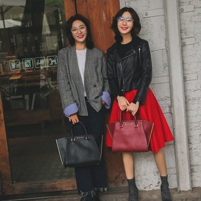 手提包 皮革肩背包-歐美時尚大方蝙蝠女包包2色73nh49[獨家進口][巴黎精品]