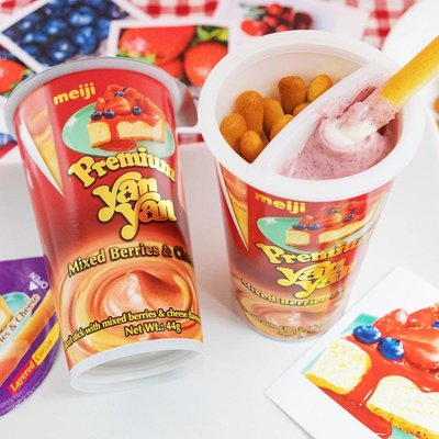 【Visual&M】明治 起司莓果餅乾棒 44公克10杯 好市多代購 Costco