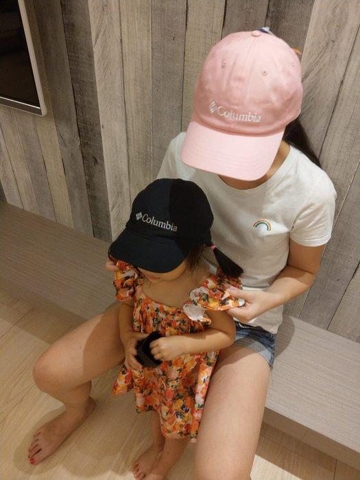 南 現 Columbia CAP 運動帽子 帽子 老帽 哥倫比亞 男女 小孩 可調式 黑色 黑色 粉紅色 電繡 戶外