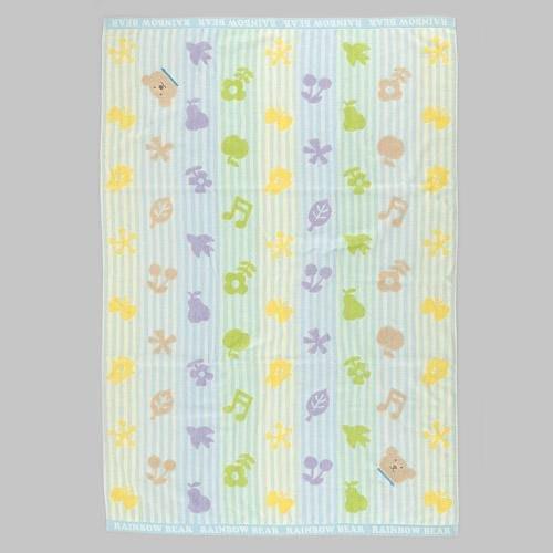 (預購)Rainbow Bear日本彩虹熊絨布大浴巾(細線條音符)2色~Jennifer的異想世界~