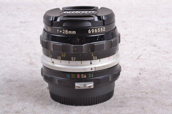 【台中品光攝影】Nikon NON-Ai 28mm F3.5 手動鏡 定焦 FI#57744J