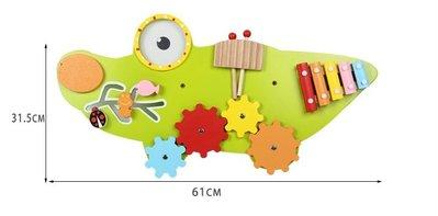 【晴晴百寶盒】木製牆壁啟發鱷魚 益智遊戲 寶寶过家家玩具 角色扮演 家家酒親子互動 生日禮物 平價促銷 P101