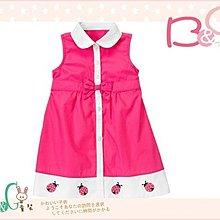 【B& G童裝】正品美國進口GYMBOREE刺繡小瓢蟲圖樣粉紅色背心裙2yrs