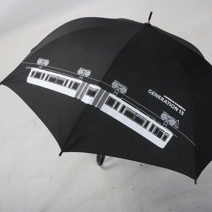 奇奇店-潮設計城市電車元素簡約長柄高爾夫晴傘#加固 #小清新 #晴雨兩用