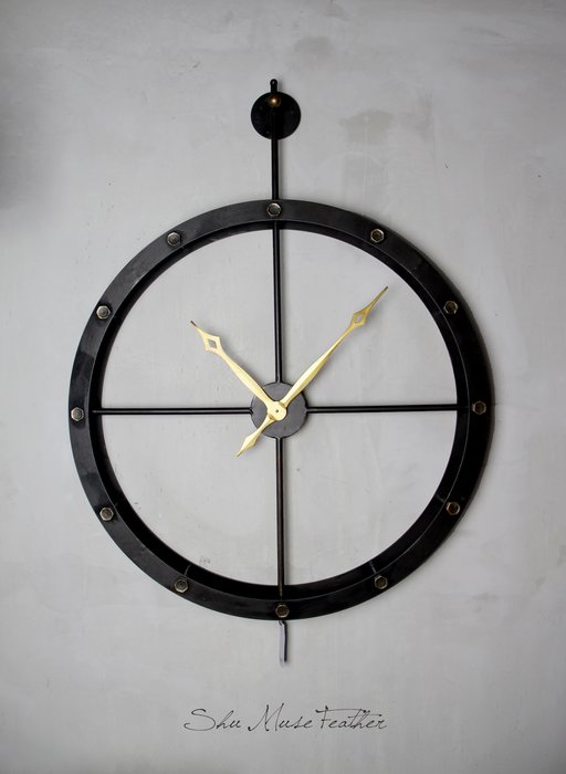 【曙muse】簡約立體簍空大掛鐘( 限量1個 )