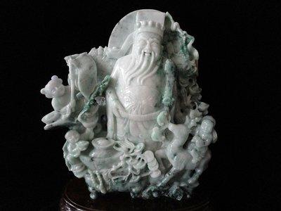 藏雅軒-早期收藏-緬甸玉雕刻擺件-飄花...