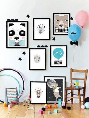 Sis 歐美 童趣 框畫 兒童房 動物 掛畫 裝飾 時尚 嬰兒房 室內設計 IKEA 家飾品 [23*28公分] 台北市