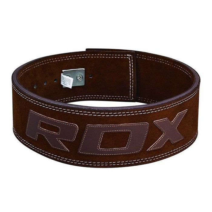 宙斯健身網- 英國RDX 健身健美舉重腰帶 重訓腰帶 S號  (棕)