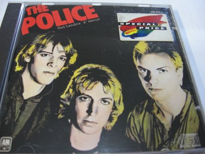 警察合唱團The Police: Outlandos d'Amour 1978 A&M Records 法國製 自藏CD
