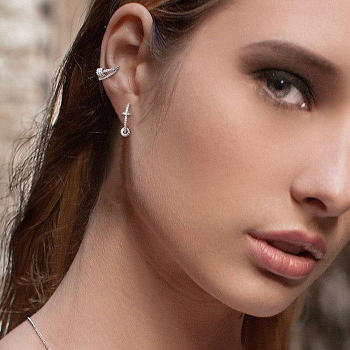 💎963、絕版款-時尚名媛雙層環節設計耳環💎 Dior Hermes 正韓 飾品 EC026