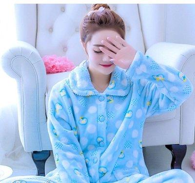 FuNFang_韓版法蘭絨冬季睡衣@加...