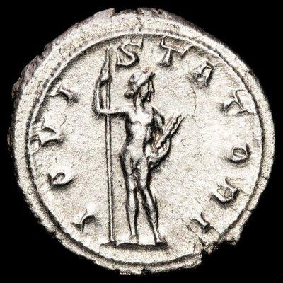 【閒雲雅士】古羅馬銀幣 (#10) — Gordian III / Jupiter (1780年歷史古銀幣) 有保證書