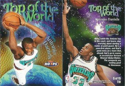 ANTONIO DANIELS 1998-99 HOOPS TOP OF THE WORLD 5of15 TW 特卡