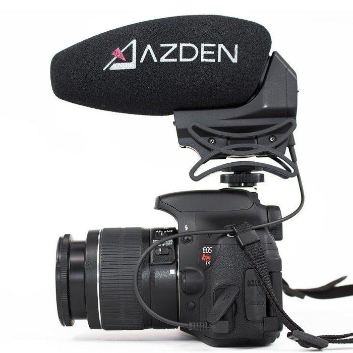 呈現攝影-A讚日系 AZDEN SMX-30 DSLR 專業麥克風 單眼相機 立體/單聲切換 自動關開 日本製