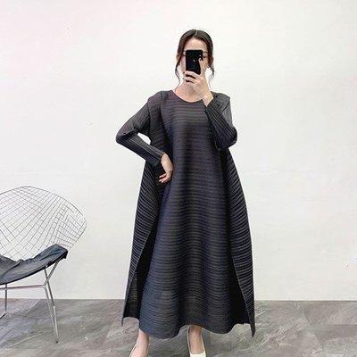 長袖洋 裝 連身 短裙-圓領純色寬鬆大擺女裙子4色73yf25[獨家進口][米蘭精品]