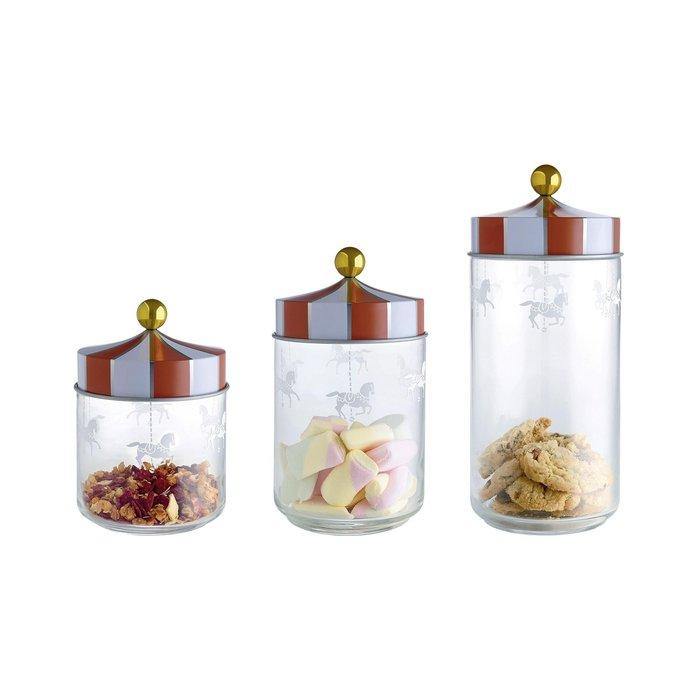 現貨 ◎歐美◎ 旋轉木馬玻璃密封罐 儲物罐 3件組