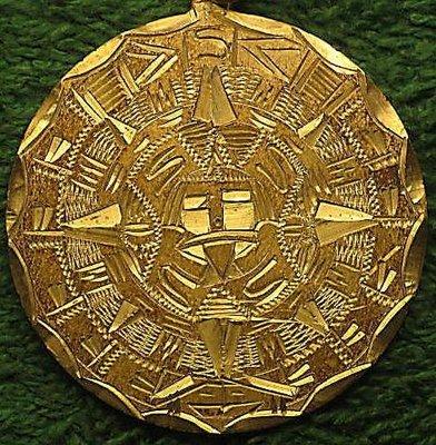 墨西哥手彫馬雅銀幣 1900 o.j. Maxican Mayan Token on Silver Peso.