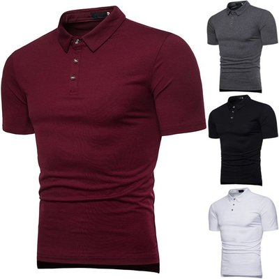 『潮范』 S5 素面POLO衫 大身多色時尚拼接羅口領裝飾商務POLO衫 男式短袖POLO衫NRG812