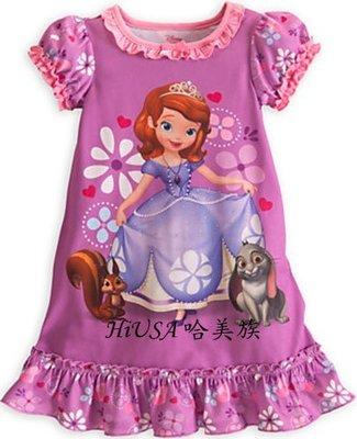 哈美族 美國全新 迪士尼 Disney 春夏 女童 Sofia 蘇菲亞小公主 連身裙/睡裙/家居服 美規2/3及10