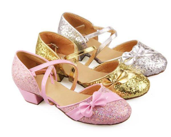 5Cgo【鴿樓】會員有優惠 12357064924 兒童拉丁舞鞋 女童中跟包頭舞蹈鞋 少兒軟底小孩跳舞鞋 國標恰恰