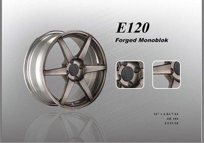 CS車宮車業 Nashin 世盟 單片式 鍛造 鋁圈 E120 16吋 6J/7J 4/100 ET35~50