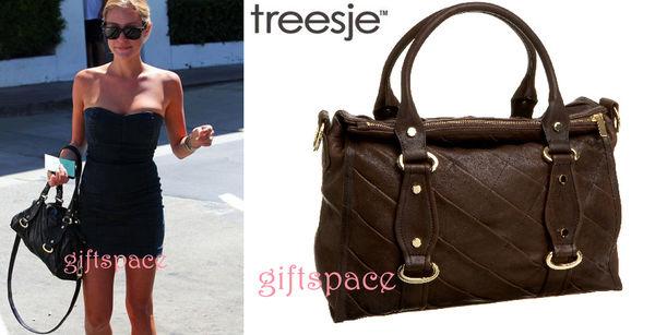 女星Kristin Cavallari 最愛人氣款Treesje Monaco chocolate 波士頓托特包 現貨