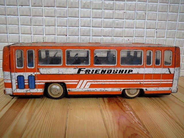 【 金王記拍寶網 】Z255   50年代 早期 老鐵皮 慣性鐵皮公車 (正老品) 古董級 罕見稀少珍貴