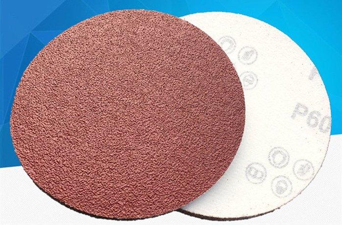 4寸植絨片拉絨片 圓盤砂打磨機專用背絨圓盤砂犀利砂紙片植絨砂紙 80目~2000目
