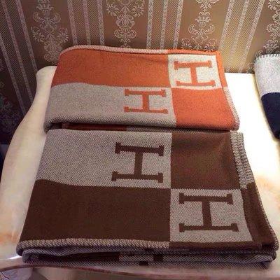 愛馬仕毛毯H母毛毯空調毯毯子Hermès 170*140cm 明星同款