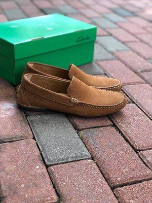 Clarks克拉克男士豆豆鞋真皮休闲鞋乐福鞋懒人鞋黃棕39-44