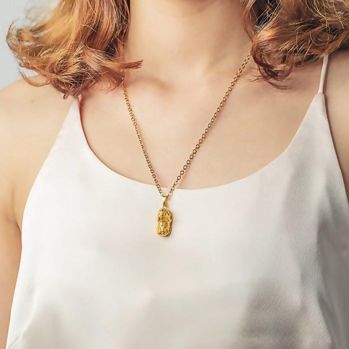 新娘婚慶飾品時尚氣質銅鍍18k金仿黃金貔貅鎖骨鏈女士項鍊N692