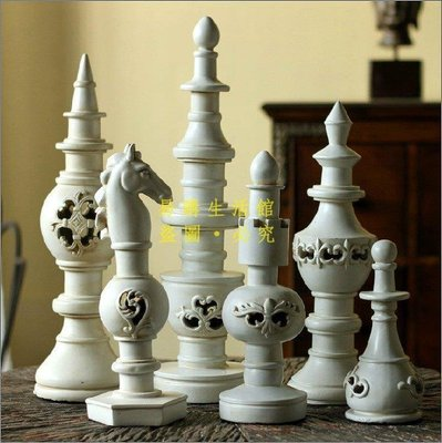 [王哥廠家直销]西洋棋 西洋象棋 擺飾 家飾 傢飾 樣品屋 樣品房 室內設計 裝潢 攝影道具 入厝 禮物 禮品 樹脂LeG