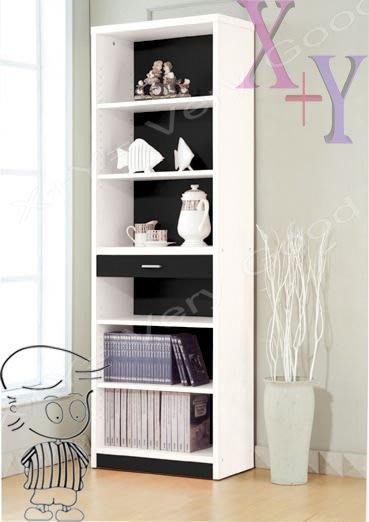 【X+Y時尚精品傢俱】DIY書桌書櫥系列-心情系列-2*6尺 黑/白書櫃-須自行組裝.尺寸多樣選擇