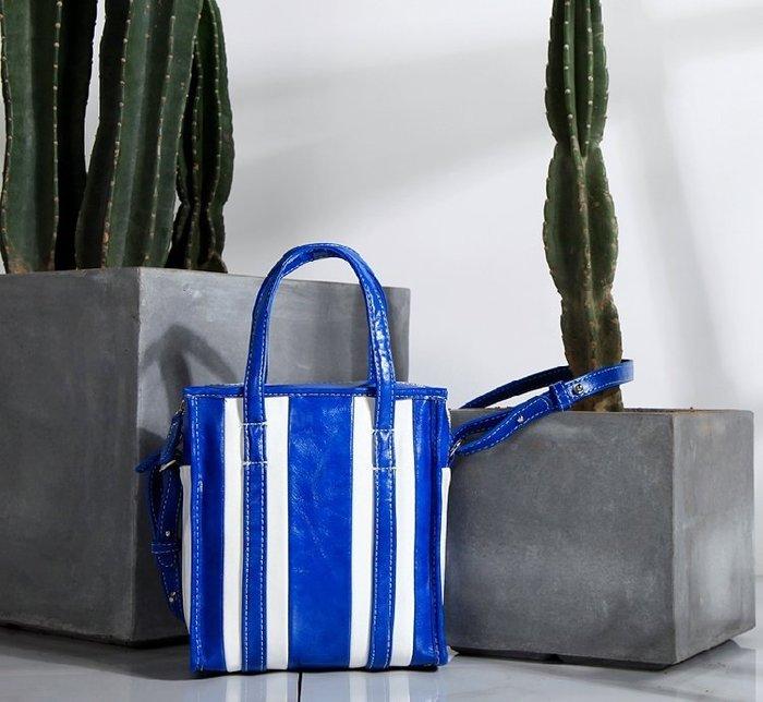 """秒殺!!!!!--新貨上架條紋包包""""有兩色可選藍白色"""