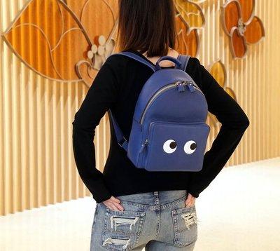Anya Hindmarch Eyes Right mini backpack 眼睛後背包 藍