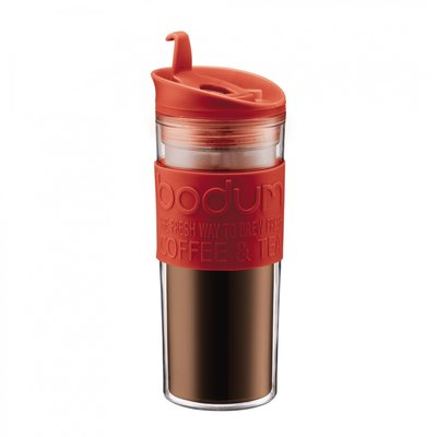 丹麥 Bodum  雙層 咖啡杯 旅行杯 水杯  隨行杯 450ml  紅色