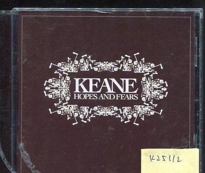 *真音樂* KEANE / HOPES AND FEARS 二手 K25112