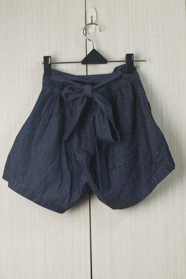 [ColorStar] 實拍現貨日本帶回 NICE CLAUP藍蝴蝶結彈性棉短褲