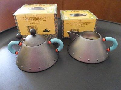 全新未用 日本帶回 ALESSI 鳥鳴壺系列-  售出物含:  1.糖罐/ 鹽罐含湯匙 B9097 Alessi Mi