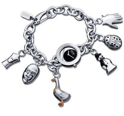 清倉大降價!全新從未戴過世界名牌 Moschino CHEAPANDCHIC 銀色吊飾手錶,低價起標無底價!本商品免運費