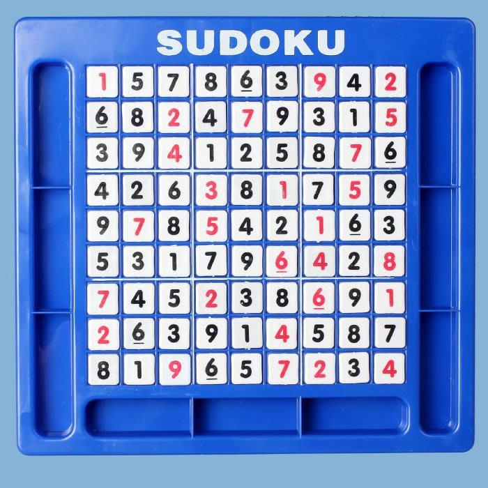 5Cgo【樂趣購】10001585286桌面親子遊戲數獨遊戲棋九宮格120關題SuDoku兒童益智力玩具記憶棋子大號數獨