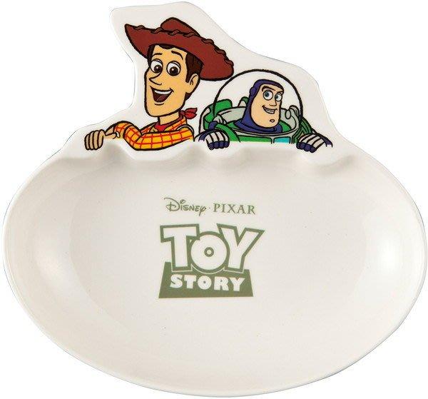 迪士尼Disney《現貨》玩具總動員胡迪巴斯光年 造型瓷器咖哩盤 盤子 碟子~日本正品~心心小舖